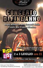 Concerto di fine anno – Cento per Cento Musica Roma