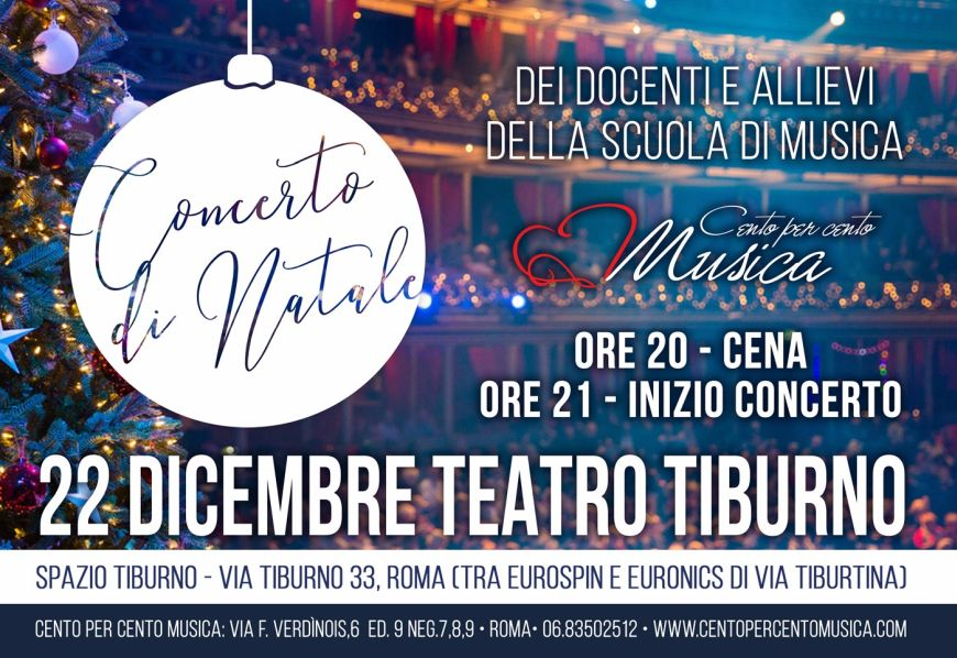 Concerto di Natale 2018 - Cento per Cento scuola di musica Roma