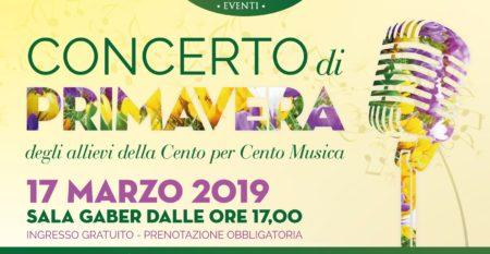 Locandina concerto di primavera Cento per Cento musica Roma