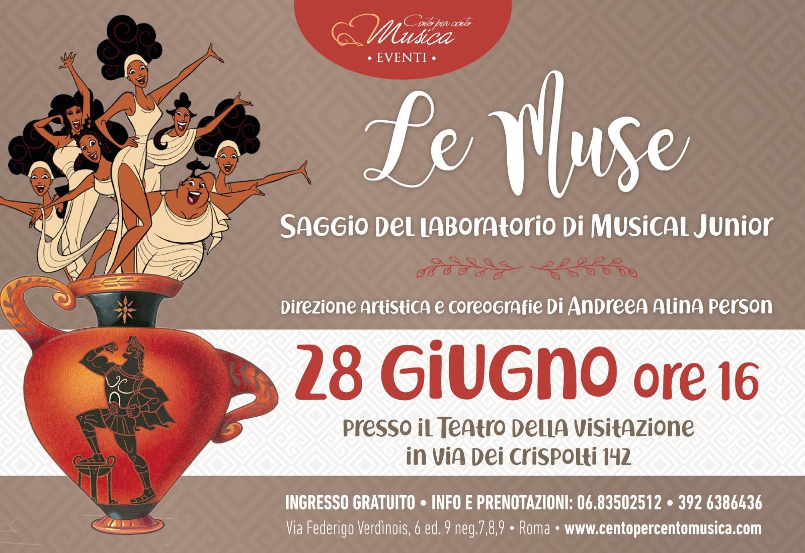 le muse, saggio di fine anno corso di musical junior - cento per cento musica roma