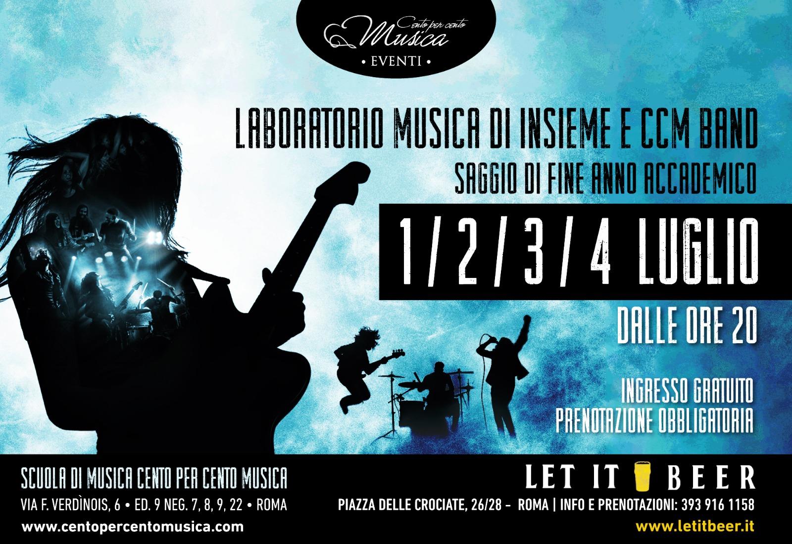 saggio laboratorio musica insieme - cento per cento musica roma